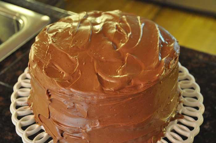 Banana cake chocolate chip cake